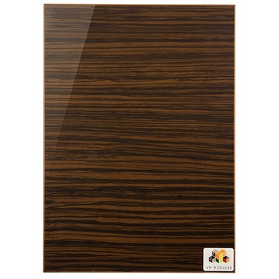 1405 Dark Zebrano(Horizontal)  Acrylic Shutter