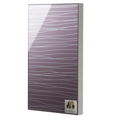 2102 Violet Waves Glass Shutter