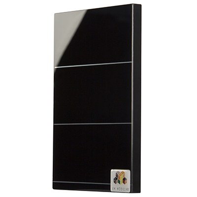 2112 Duo Black Glass Shutter